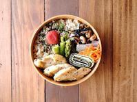 4/4(火)おろしソースのチキンソテー弁当 - おひとりさまの食卓plus