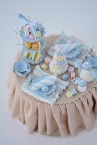 シュガークラフトで作るアフタヌーンティー - Misako's Sweets Blog アイシングクッキー 教室 シュガークラフト教室 フランス菓子教室 お菓子 教室