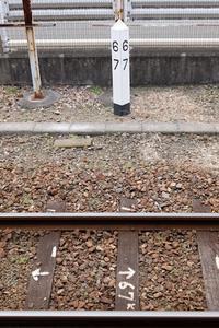 呉駅 JR西日本呉線67kmポスト - Fire and forget