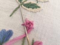 バラの刺しゅう - y-hygge
