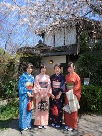 満開の桜と青空と素敵なお着物姿と。 - 京都嵐山 着物レンタル&着付け「遊月」
