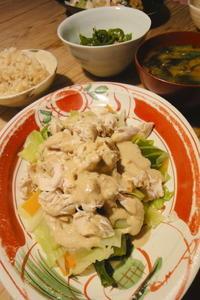鶏と春キャベツの温野菜 - 週末は晴れても、雨でも