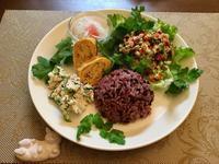 豚コマのラビゴットソース和えプレート - カフェ気分なパン教室  ローズのマリ
