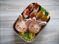 うさぎさん弁当 - cuisine18 晴れのち晴れ