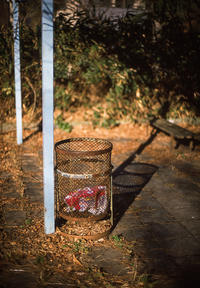 黄昏の公園に見るシュールなアウトドアの残骸 - Film&Gasoline