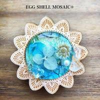 【卵の殻のモザイクアート】3月末日をもって、小山市中央図書館での展示は終わりました^^ - 栃木県・小山市 卵の殻のモザイクアート・エッグシェルモザイクR