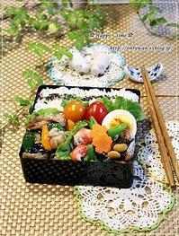 肉野菜炒め弁当とイタリアンとムスカリ♪ - ☆Happy time☆