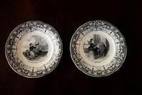 仏Creill et Montereau絵皿No.2 ,4 - スペイン・バルセロナ・アンティーク gyu's shop