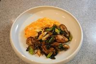 牡蠣と九条ネギのXO醤炒め/鶏ささみと新玉ねぎの中華風炒め/豆腐と青梗菜のサラダ - まほろば日記