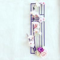 可愛らしい桜を散りばめた作品を作ってくださいました - フラワースクール 横浜 Champs Fleuris Izmi (シャン フルーリー イズミ)