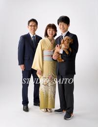 入学記念に家族で笑顔^^ - スタジオサイトーな日々