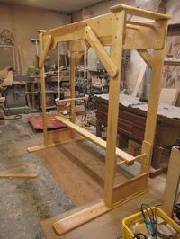 うんていNタイプW1800×H1800×D1040 可動式登り棒2本 新平均台 ブランコ式ぶら下がり練習棒 - MAGINU STYLE by Art Furniture Gallery