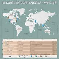 4月7日・世界 米空母配置図 / 画像 - 「つかさ組!」
