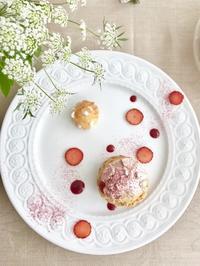 Chou à la crème シュー ア ラ クレーム レッスンレポート② - Misako's Sweets Blog アイシングクッキー 教室 シュガークラフト教室 フランス菓子教室 お菓子 教室
