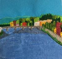 フェルト絵本「アルノ川の流れ」のページ - SAKOmama  布絵本工房