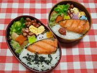 鮭弁当★(^^♪・・・・・高校生弁当 - 日だまりカフェ