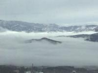 部屋から見る雲海  The Sea of Clouds Viewed From Hotel Room - my gallery-2
