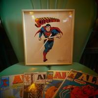 Vintage  Superman clock - OIL SHOCK ZAKKA