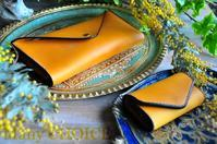 イタリアンバケッタレザー・エルバマット・長財布2とキーケース - 時を刻む革小物 Many CHOICE~ 使い手と共に生きるタンニン鞣しの革