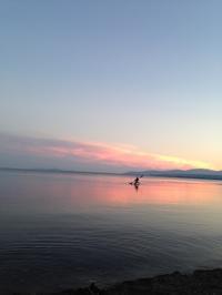 琵琶湖の中へ - 蒼暮雨に詠う