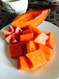 キューバ、フルーツの朝ごはん - マコト日記
