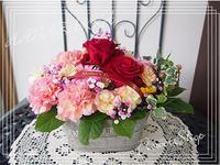 母の日のアレンジメント - hanazakka*花雑貨