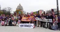 推進法成立を求める国会議事堂前マーチ - FEM-NEWS
