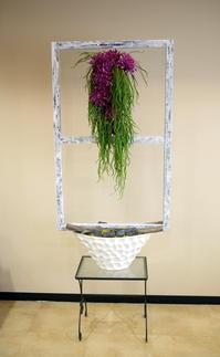 美容室「Luce(ルーチェ)」さんのアーティフィシャルフラワーディスプレイ。2017/04/06。 - 札幌 花屋 meLL flowers