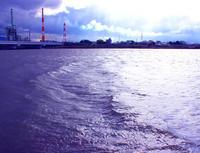 湧水が大河になり、海と交わるところ。境目はすごい。 - 三恵 poem  art