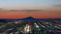 金山城跡公園の朝、筑波山と桜と♪ - 『私のデジタル写真眼』