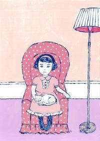 洋室の女の子 - たなかきょおこ-旅する絵描きの絵日記/Kyoko Tanaka Illustrated Diary