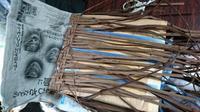籠編み教室 4月 - 古布や麻の葉