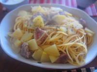 豚肉とじゃがいものパスタ - 恵茶房 meg tea labo