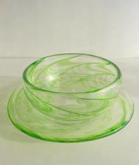 今日のガラス - 宙吹きガラスの器