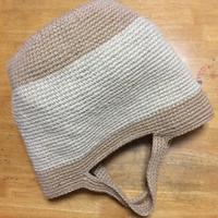 7号針から8号針に変え、丸底の麻ひもバッグ編みました。 - +you