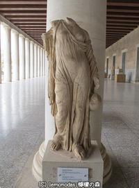 水瓶を手に下げて持つアフロディーテー像 古代アゴラ博物館 - 日刊ギリシャ檸檬の森 古代都市を行くタイムトラベラー
