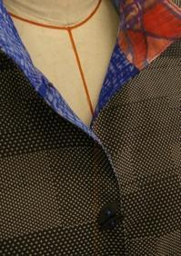 着物リメイク 大島紬と銘仙のリバーシブルジャケット・・・完成 - warmheart*洋服のサイズ直し・リフォーム*