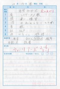 10月14日 - なおちゃんの今日はどんな日?