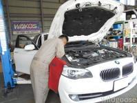 BMW 523i 車検整備中☆今週も沢山の車検ご入庫ありがとうございました(^ω^ )♪ - ★豊田市の車屋さん★ワイルドグース日記