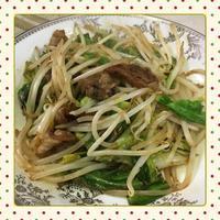 春キャベツともやしと豚肉の炒め物 - kajuの■今日のお料理・簡単レシピ■