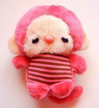 ピンク色お猿のぬいぐるみ - himedaria*