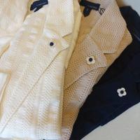 LARDINI(ラルディーニ)サッカーXメッシュストライプニットジャケット - 下町の洋服店 krunchの日記