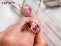 赤い花と蒼い星 - Sola*Tsuchi  花とアクセサリー