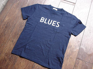 """NEW : RADIALL [RATTSNAKE] BLUES TEE """"Indigo"""" & """"Ice Wash"""" - HOME TOWN STORE River Side"""