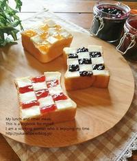 イエシゴトVol.203 ベリーベリーのジャム作りとチェックトースト - YUKA'sレシピ♪