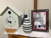 わが家にやってきた無印良品の鳩時計と、名残の桜 - 趣味とお出かけの日記