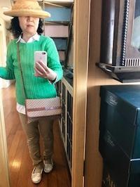ケーブルニットも新緑に - 着まわせない