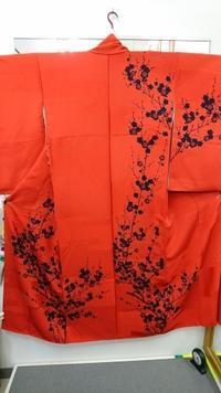 赤いスッキリ梅訪問着なんとビックリ・・・ - たんす屋新小岩店ブログ