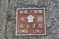 舗装道路上の標識。 - 青い海と空を追いかけて。