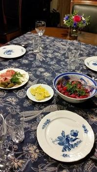 セニョール来訪 自家製ビーツでヴィネグレットを - 牡蠣を煮ていた午後